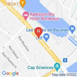 Mapa RADISSON BLU HOTEL, BORDEAUX