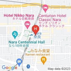 Mapa SUPER HOTEL LOHAS JR NARA STATION NATURAL HOT SPRING