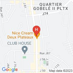 Mapa DES JARDINS