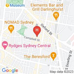 Mapa CAMBRIDGE HOTEL SYDNEY