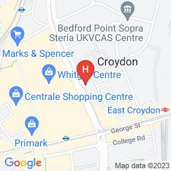 Mapa JURYS INN CROYDON