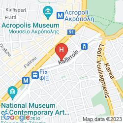 Mapa THE ATHENIAN CALLIRHOE EXCLUSIVE HOTEL