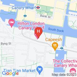 Mapa HILTON LONDON CANARY WHARF