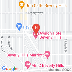 Mapa AVALON BEVERLY HILLS