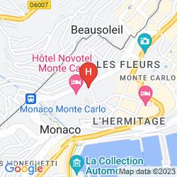Mapa NOVOTEL MONTE CARLO