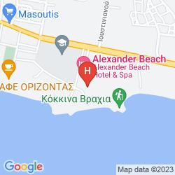 Mapa ALEXANDER BEACH HOTEL & SPA