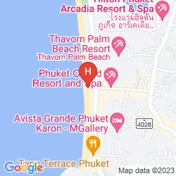 Mapa ANDAMAN SEAVIEW HOTEL KARON BEACH PHUKET