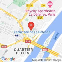 Mapa CITADINES LA DEFENSE PARIS