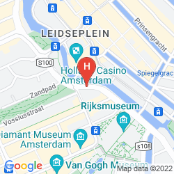 Mapa PARK CENTRAAL AMSTERDAM