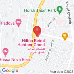 Mapa HILTON BEIRUT HABTOOR GRAND