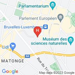 Mapa RADISSON RED BRUSSELS