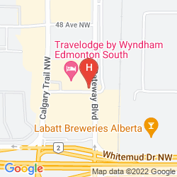 Mapa TRAVELODGE EDMONTON SOUTH