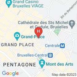 Mapa LA MADELEINE GRAND PLACE BRUSSELS