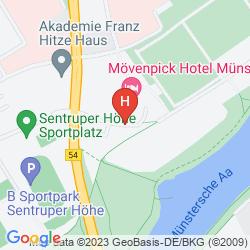 Mapa MOVENPICK HOTEL MUENSTER