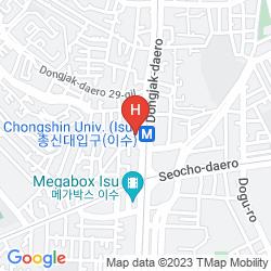 Mapa SHERATON SEOUL PALACE GANGNAM
