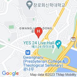 Mapa W SEOUL-WALKERHILL