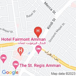 Mapa SHERATON AMMAN AL NABIL HOTEL