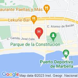 Mapa APARTHOTEL PUERTO AZUL