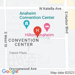 Mapa HILTON ANAHEIM