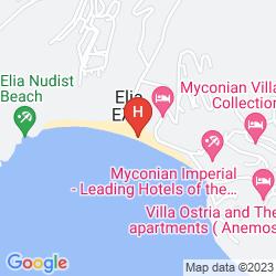 Mapa ROYAL MYCONIAN RESORT & THALASSO SPA CENTER