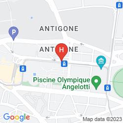 Mapa CITADINES ANTIGONE MONTPELLIER