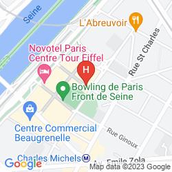 Mapa APARTHOTEL ADAGIO PARIS CENTRE TOUR EIFFEL