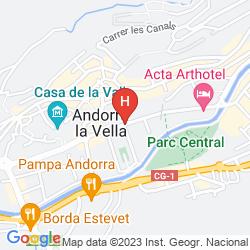 Mapa HOLIDAY INN ANDORRA