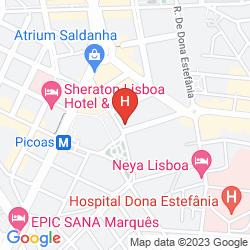 Mapa DOUBLE TREE BY HILTON - LISBON - FONTANA PARK