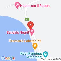 Mapa SANDALS NEGRIL BEACH RESORT & SPA