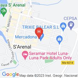 Mapa PINERO HOTEL BAHIA DE PALMA