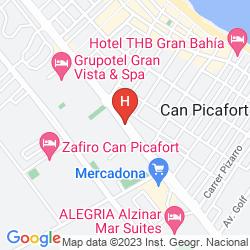 Mapa MAGIC APARTHOTEL CA'N PICAFORT PALACE