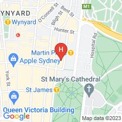 Mapa TRAVELODGE HOTEL SYDNEY MARTIN PLACE