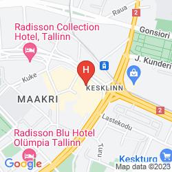 Mapa SWISSOTEL TALLINN