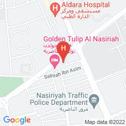 Mapa QASR NASRIYAH GOLDEN TULIP