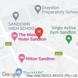 Mapa TOWN LODGE SANDTON GRAYSTON DR.