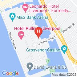 Mapa JURYS INN LIVERPOOL