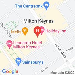 Mapa HOLIDAY INN MILTON KEYNES CENTRAL