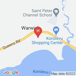 Mapa THE WARWICK FIJI