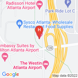 Mapa HOLIDAY INN EXPRESS ATLANTA AIRPORT-COLLEGE PARK
