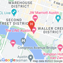 Mapa RADISSON HOTEL & SUITES AUSTIN DOWNTOWN