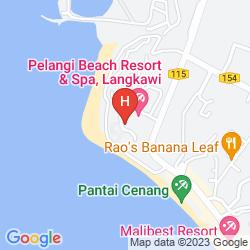 Mapa PELANGI BEACH RESORT & SPA, LANGKAWI