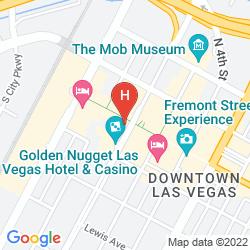Mapa GOLDEN NUGGET LAS VEGAS HOTEL & CASINO