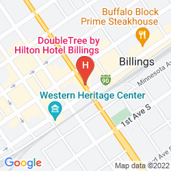 Mapa CROWNE PLAZA BILLINGS