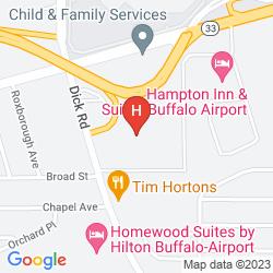 Mapa COMFORT SUITES BUFFALO AIRPORT