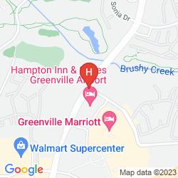 Mapa MARRIOTT GREENVILLE