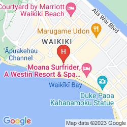 Mapa THE ROYAL HAWAIIAN, A LUXURY COLLECTION RESORT, WAIKIKI