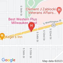 Mapa BEST WESTERN WOODSVIEW INN