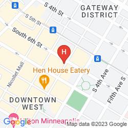 Mapa CROWNE PLAZA NORTH STAR HOTEL