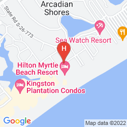 Mapa HILTON MYRTLE BEACH RESORT