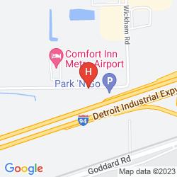 Mapa COMFORT INN METRO AIRPORT